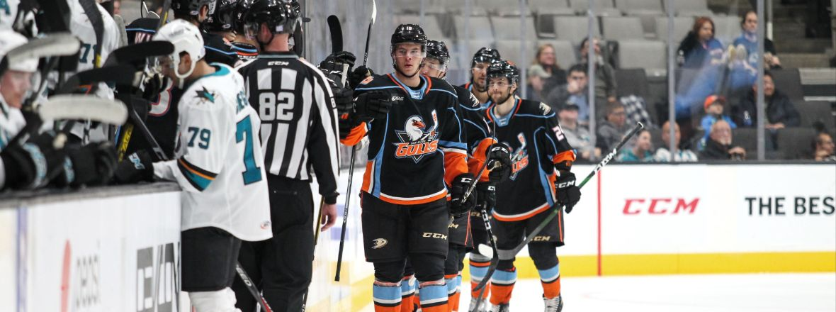 LIVE: Gulls Lead Barracuda 2-1