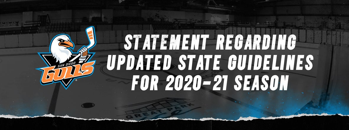 Gulls Announcement On Recent State Guidelines