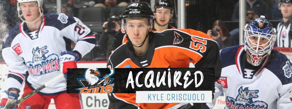 Ducks Acquire Criscuolo, Pick From Flyers