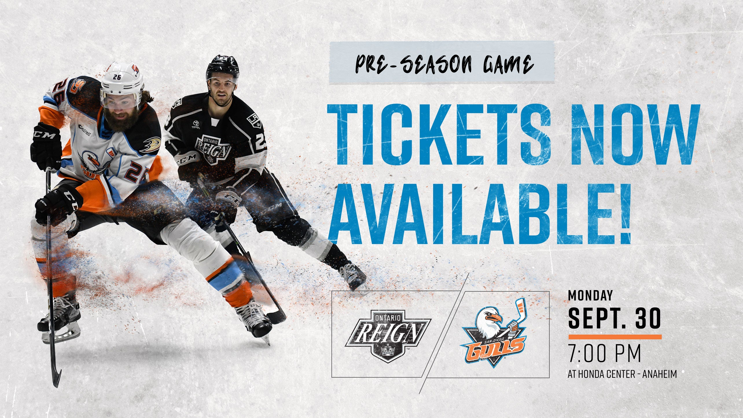 Gulls to Host Reign in Free Preseason Game at Honda Center Sept. 30