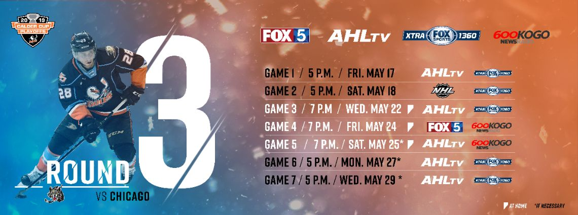 Gulls Announce Round 3 Broadcast Schedule