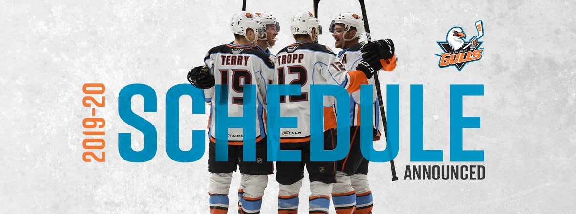 Gulls 2019-20 Schedule Announced