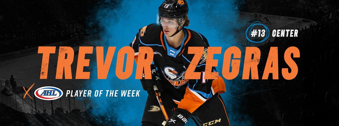 Zegras Named Player of the Week