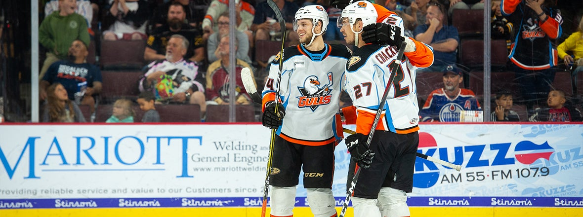 Gulls Win Game 2, Take 2-0 Series Lead